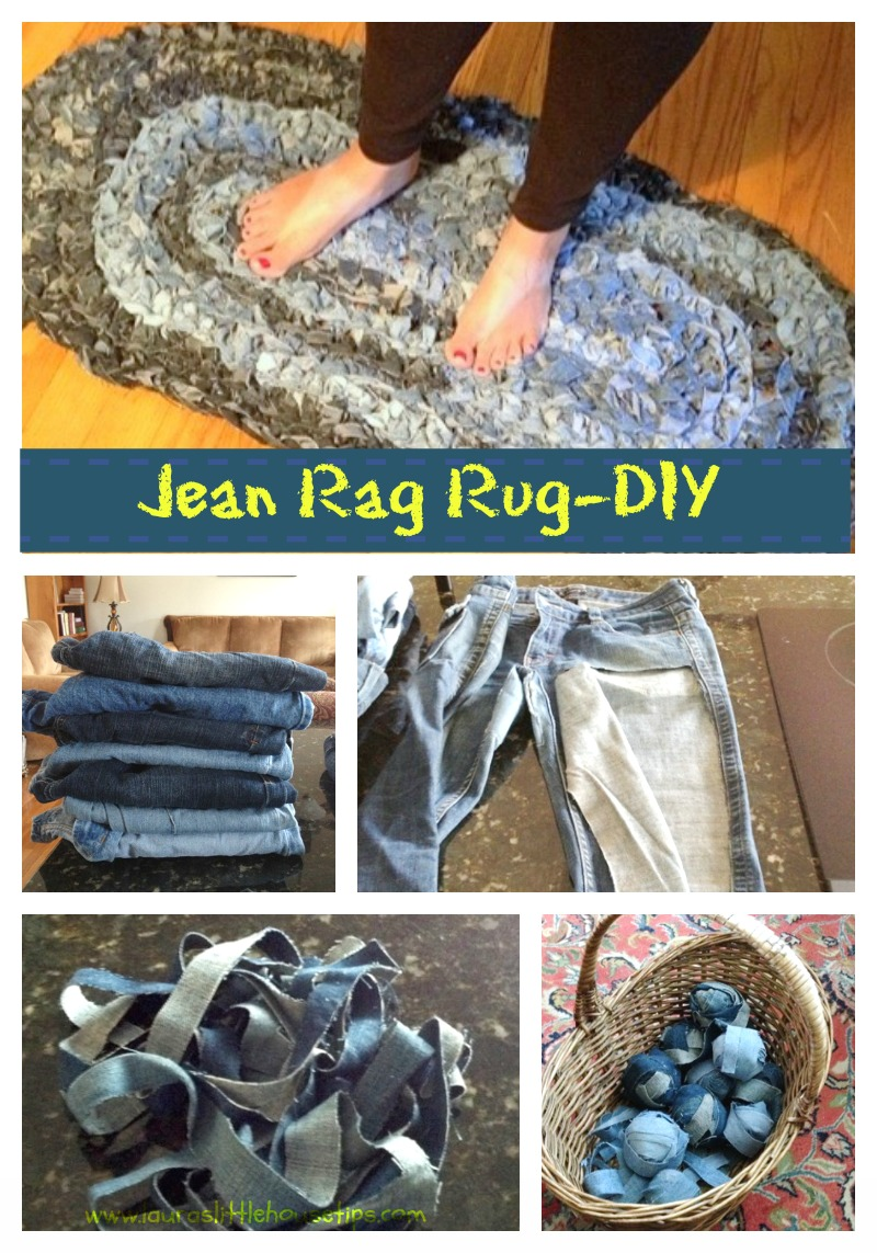 Denim rug give old jeans new life for How to make new things from old things
