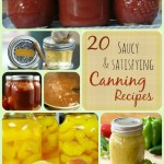 20 Saucy and Satisfying Canning Recipes lauraslittlehousetips.com