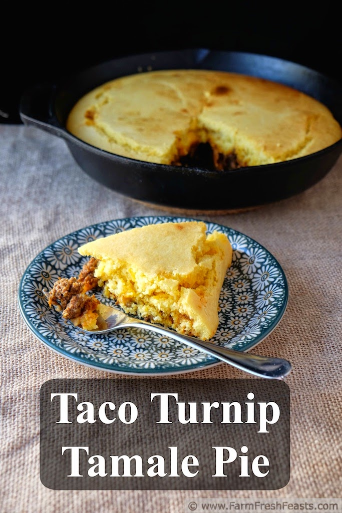 twist on the typical cast iron recipe. This taco, turnip, tamale, pie ...