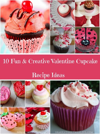 10 Fun & Creative Valentine Cupcake Recipe Ideasval collage